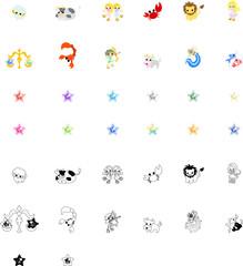 星占いをイメージしたアイコン