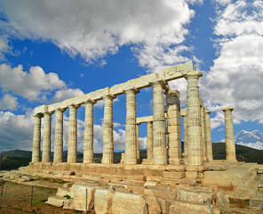 poseidon temple - sounio cape - greece