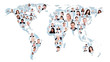 Multiethnic Business People On World Map