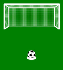 a penalty kick with ball