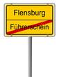 Schild Führerschein Flensburg