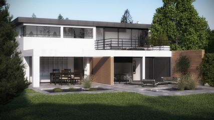 Einfamilienhaus - Planungsvisualisierung