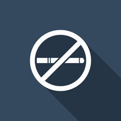 No smoking icon with long shadow