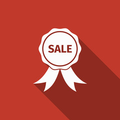 sale icon with long shadow