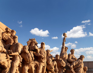 Revolutionary statues at Tiananmen Square in Beijing,
