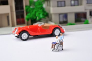 車椅子の介護と交通弱者