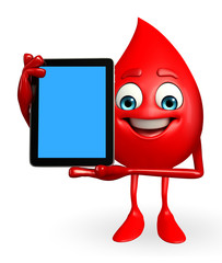 Blood Drop Character with tab