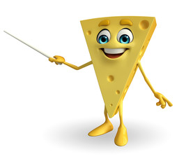 Cheese Character with stick