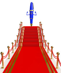 Pen Character with red carpet