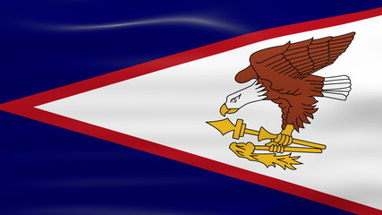 Waving American Samoa Flag, ready for seamless loop.