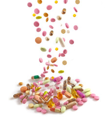 heap of various pills