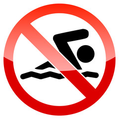 Do not swim vector sign