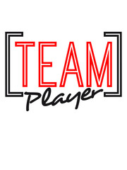 Team Player Cool Text Logo Design