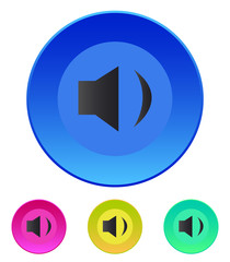 Speaker icon. Volume min. Vector illustration.