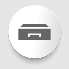 Flat style - drawer vector icon illustration.