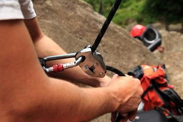 Climber belayer