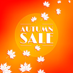 Autumn sale, background.