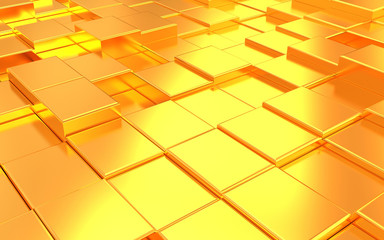 Abstract metall gold background