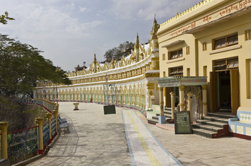 Entrance of U Min Thonze Buddhist Temple On Sagaing Hill