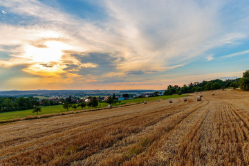 Countryside Summer Sunset Landscape