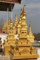 U Min Thonze Buddhist Temple On Sagaing Hill architectural detai