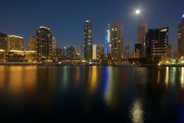 Moon over Dubai