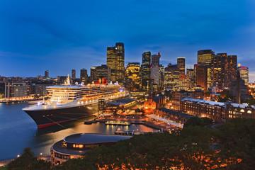 Sydney QM2 Sunset Circular Back