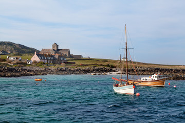 Approaching Isle of Iona from the sea
