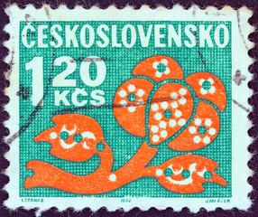Stylized plant (Czechoslovakia 1971)