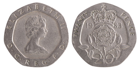 Twenty Pence coin