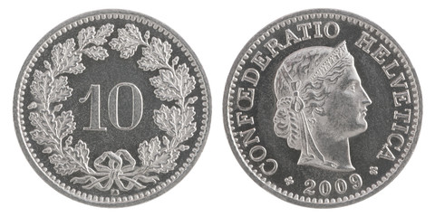 ten francs coin