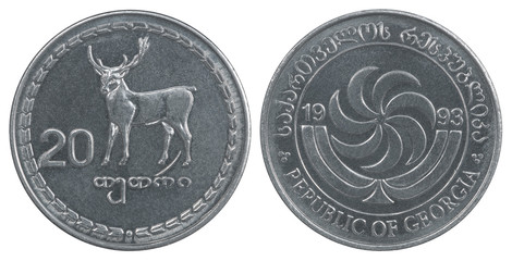 Georgian tetri coin
