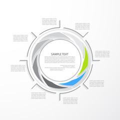 Minimal infographic template, vector illustration