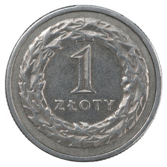 One Polish Zloty coin