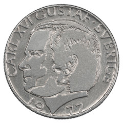 One Swedish Kronor coin