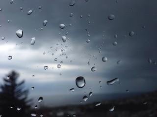 water drops nostalgic rain view