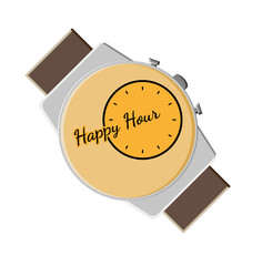 happy hour background with watch