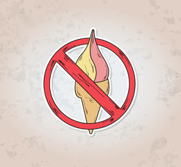 sign entry ban ice cream