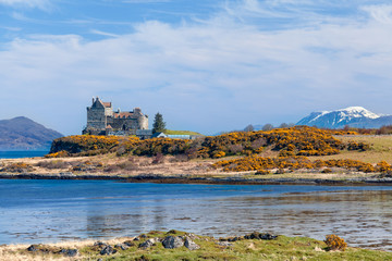 Duart Castle, scenery of Mull island