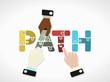 Path concept illustration
