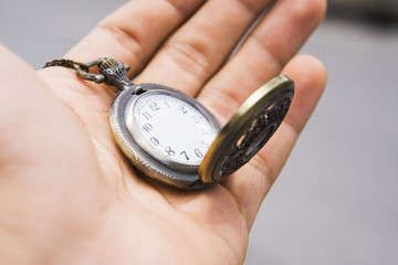 Photo Illustration of pocket watch. time concept