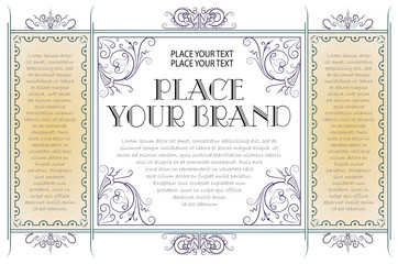 Template for business, envelope, invitations and greeting cards