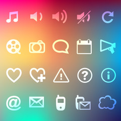 Iconset 3 Transparent Regenbogen