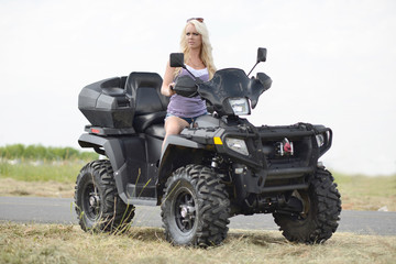 Sexy girl on atv