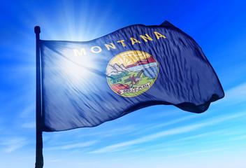 Montana (USA) flag waving on the wind