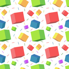 Colorful cube pattern