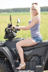 Blonde on quad