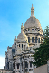 Basilica of the Sacred Heart of Jesus of Paris evening