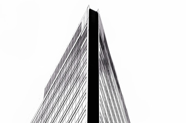 Black and white Abstract of Modern building in bangkok