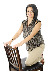 Kneeling on a Tall Chair